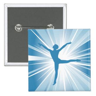 Blue Star Dancer 2 Inch Square Button