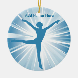 Blue Star Dancer Customizable Name Ornament