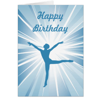 Blue Star Dancer Greeting Card