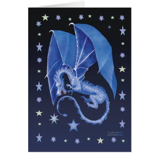 Blue Star Dragon Card