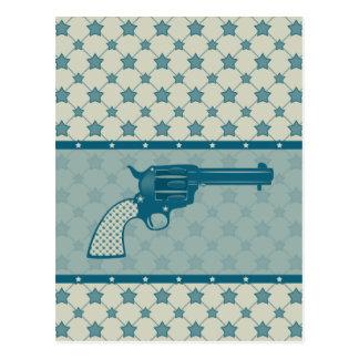 Blue Star Gun Postcard