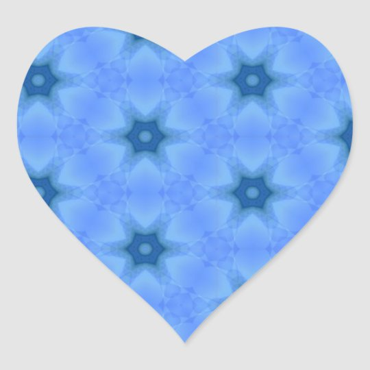 Blue Star Heart Sticker