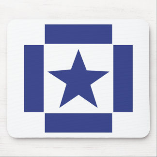 blue star icon mouse pad