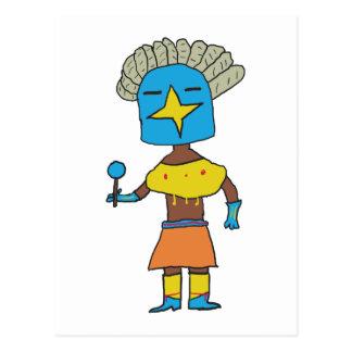 Blue Star Kachina Postcard