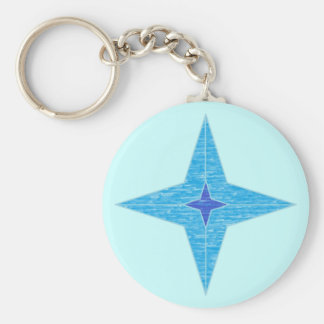 Blue Star Keychain