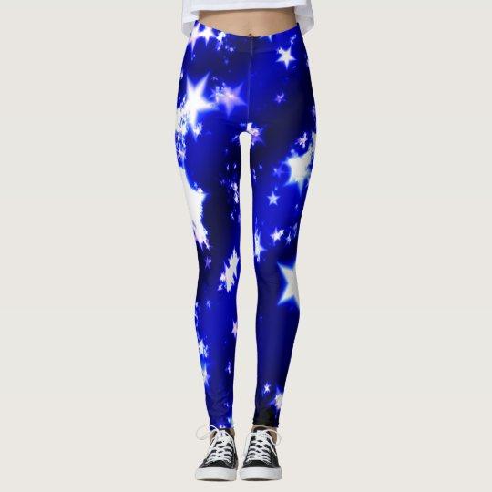 Blue Star Leggings