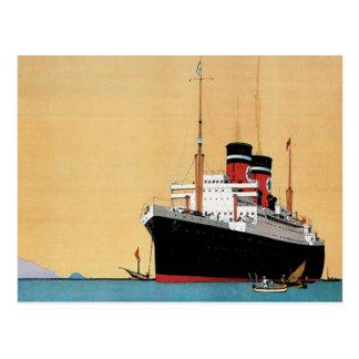 Blue Star Liner Postcard