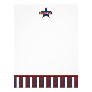 Blue Star Mom Military Custom Letterhead