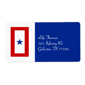 Blue Star Mom Military Family Shipping Label