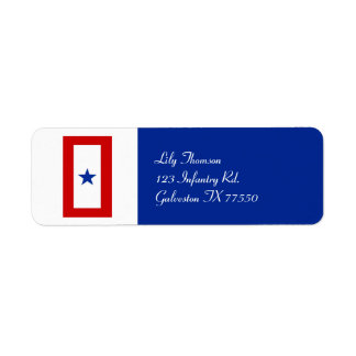 Blue Star Mom Military Return Address Label