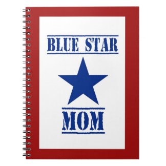 Blue Star Mom Patriotic Military Note Book
