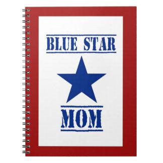 Blue Star Mom Patriotic Military Notebook