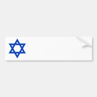 Blue Star of David Bumper Sticker
