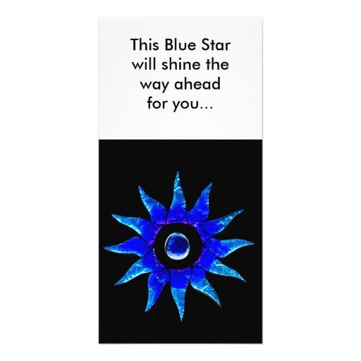 Blue Star. Photo Greeting Card