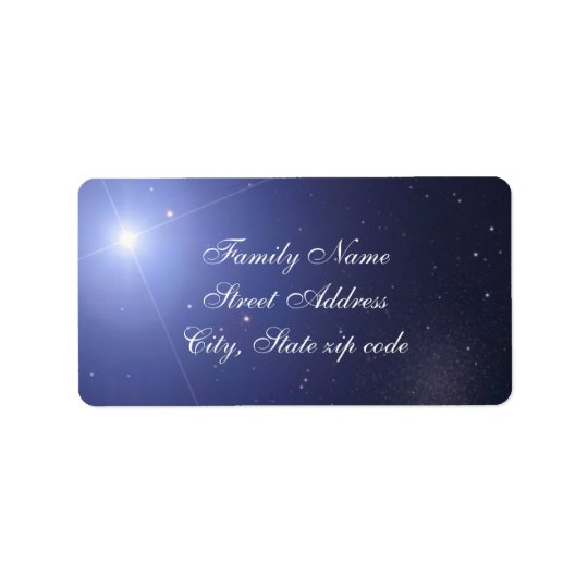 Blue star return address label