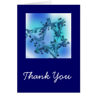 Blue Star Thank You Card