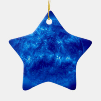 Blue Star Yellow Star Ceramic Ornament