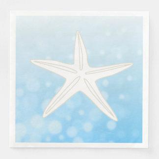 Blue Starfish Beach Themed Wedding Napkins