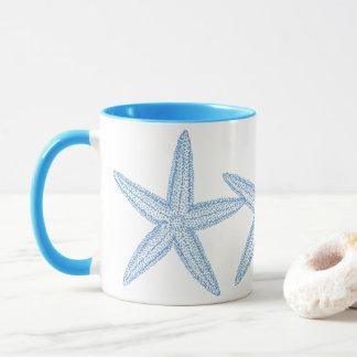 BLUE STARFISH DESIGN MUG