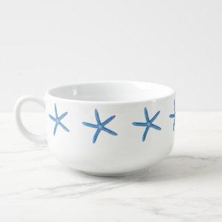 Blue Starfish Soup Mug