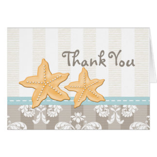 Blue Starfish Thank You Notes Cards