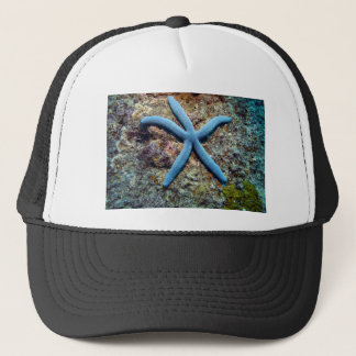 Blue starfish tropical ocean Raja Ampat Islands Trucker Hat