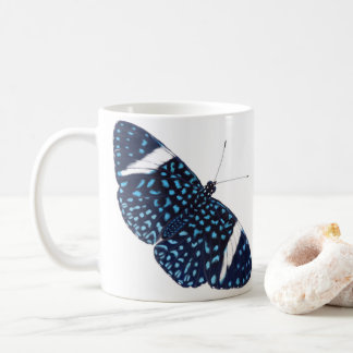 Blue Starry Night Hamadryas Tropical Butterfly Coffee Mug