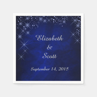 Blue Starry Night Wedding Disposable Napkins