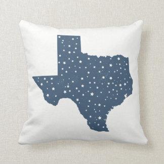 Blue Starry Texas State Throw Pillow