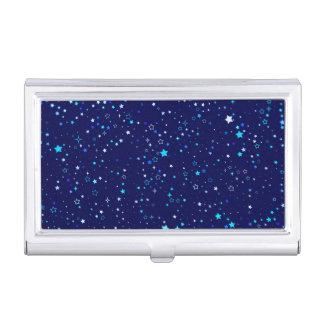 Blue Stars 2 Business Card Holder