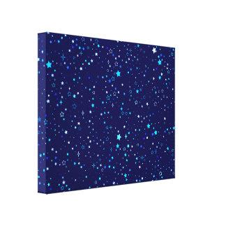 Blue Stars 2 Canvas Print
