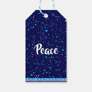 Blue Stars 2 Gift Tags