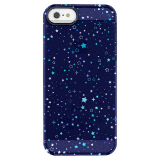 Blue Stars 2 - iPhone SE + iPhone 5/5s Clearly Clear iPhone SE/5/5s Case