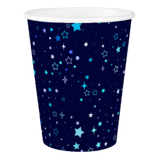 Blue Stars 2 - paper cup