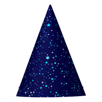 Blue Stars 2 Party Hat