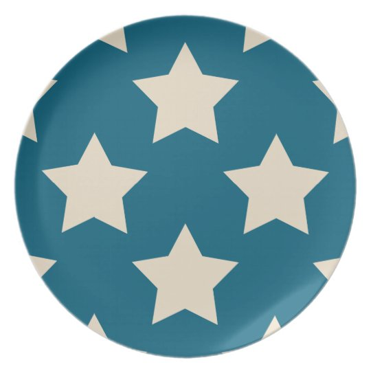 Blue Stars 2 Patriotic Melamine Plates