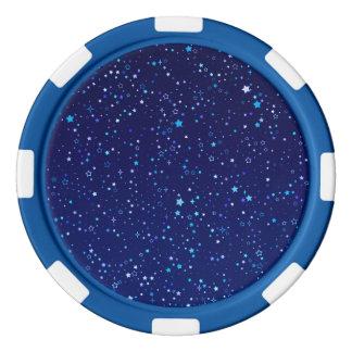 Blue Stars 2 Poker Chips