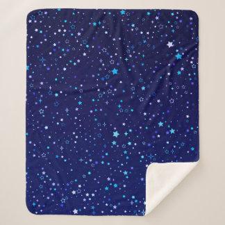 Blue Stars 2 Sherpa Blanket