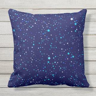 Blue Stars 2 Throw Pillow