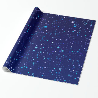 Blue Stars 2 Wrapping Paper