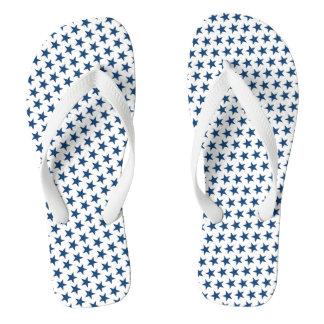 Blue Stars Adult Flip Flops