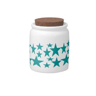 Blue Stars Candy Jar