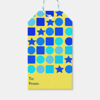 Blue Stars, Circles 'n' Squares Gift Tags Pack Of Gift Tags