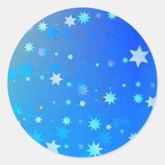 Blue Stars Classic Round Sticker