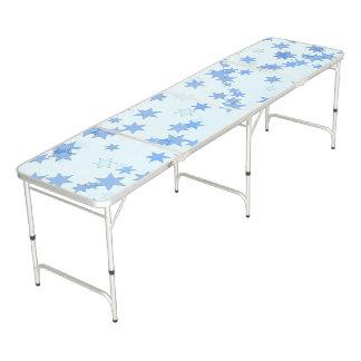 Blue Stars Design Beer Pong Table