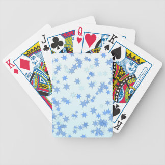 Blue Stars Design Bicycle Playing Cards