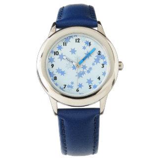 Blue Stars Design Watch