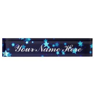 Blue Stars Dream - Desk Name Plate