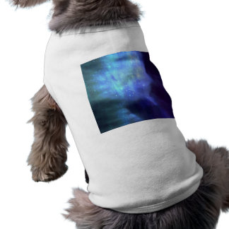 Blue stars in space pet tshirt