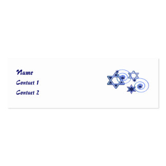 Blue Stars Jewish Contact Cards Business Cards